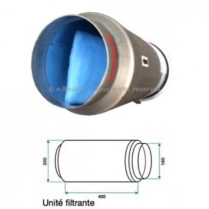 Unité filtrante G3 - Ø 150 ou 160 [- Filtration Ventilation - Aldes]