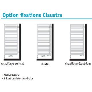 Fixations Claustra pour Kadrane et Kadrane Spa : eau chaude, mixtes ou électriques [- ACOVA]