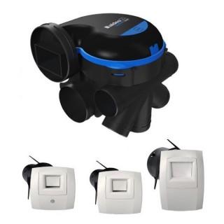 KIT Easyhome HYGRO Premium Micro-Watt + bouches manuelles [- VMC Simple flux Hygro B - Très basse consommation - Aldès]