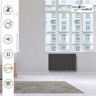 BELLAGIO Horizontal - Gris anthracite - Smart ECOcontrol [- Radiateur Inertie Fonte - Noirot]