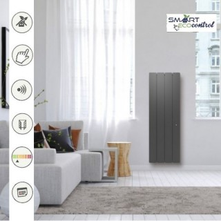 BELLAGIO Vertical - Gris anthracite - Smart ECOcontrol [- Radiateur Inertie Fonte - Noirot]