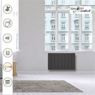 BELLAGIO Bas - Gris anthracite - Smart ECOcontrol [- Radiateur Inertie Fonte - Noirot]