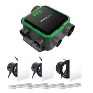 Kit VMC Easyhome PureAIR PREMIUM Compact + bouches Colorline + Entrées d'air [- VMC Simple flux à capteurs de polluants - Aldès]