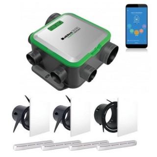 Kit VMC Easyhome PureAIR CONNECT Compact + bouches Colorline + Entrées d'air [- VMC Simple flux à capteurs de polluants - Aldès]
