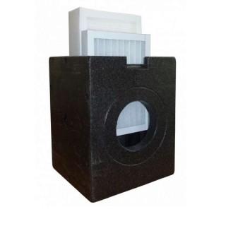 Boitier filtrant Isobox Ø 160 mm + filtre à charbon actif AK [- Filtration conduits Ø 160 mm - Zehnder]