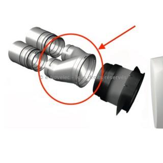 Culotte Ø 125 mm pour 2 conduits Ø 90 mm Optiflex [- Accessoire VMC simple flux - ALDES]
