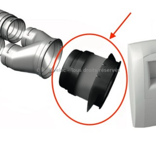 Raccord souple manchette Ø 125 mm Optiflex [- Accessoire VMC simple flux - ALDES]
