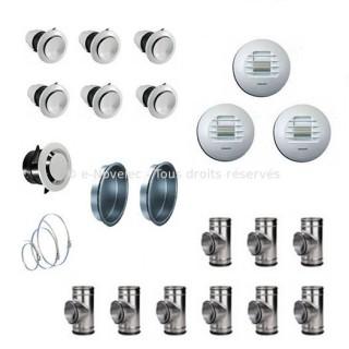 Kit accessoires DUOLIX installation linéaire [- VMC Double Flux - Atlantic]