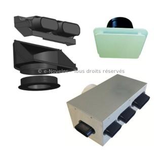 Kit accessoires DOMEO avec plénums [- réseau VMC PEHD - Serie PLUGGIT - Unelvent]