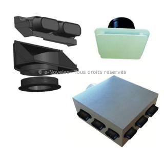 Kit accessoires IDEO avec plénums [- réseau VMC PEHD - Serie PLUGGIT - Unelvent]