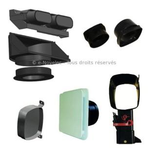 Kit accessoires IDEO avec nourrices [- réseau VMC PEHD - Serie PLUGGIT - Unelvent]