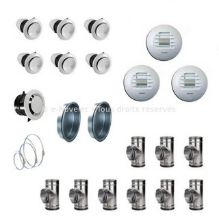 Kit accessoires DUOLIX MAX installation linéaire [- VMC Double Flux - Atlantic]
