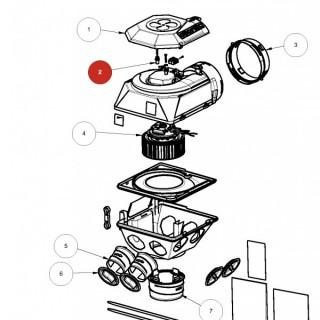 Silentbloc moteur x2 pour HYGROCOSY BC 2018 - Ref 412293, 412294 ou 413064 [- pièce détachée VMC - Atlantic]