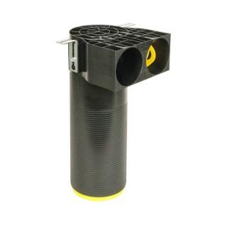 Manchette longue D125 coudée 2 piquages Optiflex - Ø 75 ou 90 mm [- Conduits Polyéthylène et accessoires VMC - Aldès]