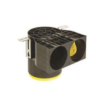 Manchette courte D125 coudée 2 piquages Optiflex - Ø 75 ou 90 mm [- Conduits Polyéthylène et accessoires VMC - Aldès]