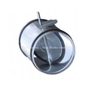 Registre d'isolement manuel galva - REEV - Ø 125 à 400 mm [- accessoires galvanisés VMC - Unelvent]