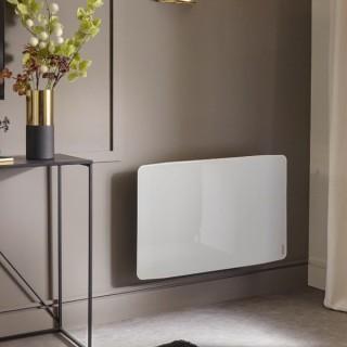 DIVALI Premium - Horizontal - Blanc Brillant [- Radiateur Inertie Fonte - Façade Verre - Atlantic]