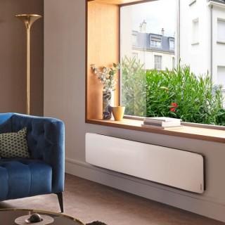DIVALI Premium - Plinthe - Blanc Brillant [- Radiateur Inertie Fonte - Façade Verre - Atlantic]