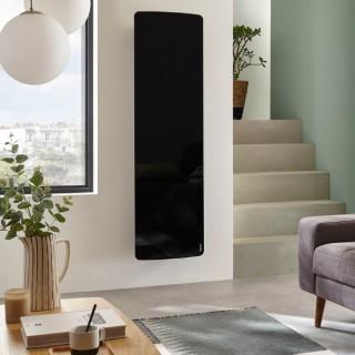 DIVALI Premium - Vertical - Noir Brillant [- Radiateur Inertie Fonte - Façade Verre - Atlantic]