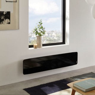 DIVALI Premium - Plinthe - Noir Brillant [- Radiateur Inertie Fonte - Façade Verre - Atlantic]
