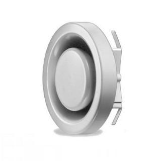 Bouche réglable métallique d'extraction Ø 80, 100, 125, 160 ou 200 mm (MTVA) [- Bouches VMC réglables - Helios]