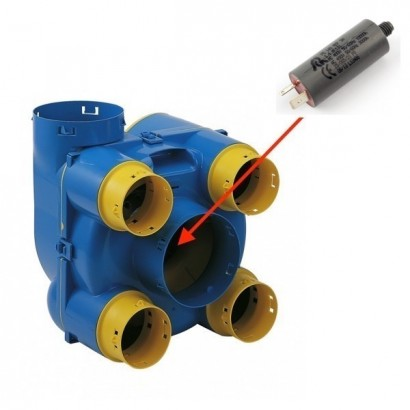 Condensateur 1,4 µF de rechange pour HYGROLIX - Ref 412115 [- pièce détachée VMC simple flux - Atlantic - Ni repris ni échangé]