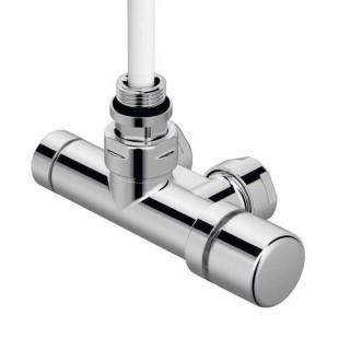 Pack robinetterie monopoint - Tête à droite (thermostatisable) - Coudé - Chromé [- Monotube / Bitube Entraxe 50 mm - ACOVA]