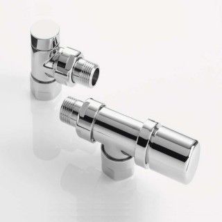 Pack robinetterie manuelle thermostatisable - Equerre inversée - Chromé [- ACOVA]