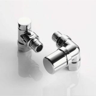 Pack robinetterie équerre d'angle pour radiateur - robinet à droite (thermostatisable) - Chromé [- ACOVA]