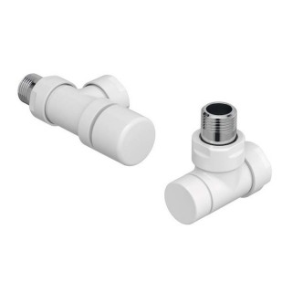 Pack robinetterie manuelle thermostatisable - Equerre inversée - Blanc [- ACOVA]