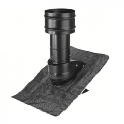 Chapeaux de toiture NOIR Ø 125, 160 et 200 mm - Sorties de toiture pour VMC double flux - Zehnder