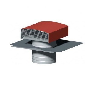 Chapeau de toiture métallique - Finition TUILE - Ø 125, 150, 160 ou 200 mm [- Sortie toiture VMC - Zehnder]