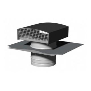 Chapeau de toiture métallique - Finition ARDOISE - Ø 125, 150, 160 ou 200 mm [- Sortie toiture VMC - Zehnder]