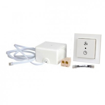 Kit sélecteur 2 positions avec indicateur de filtre RF + récepteur RF [- Accessoire VMC Double flux haut rendement - BRINK]