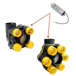 Condensateur 2µF/400V - 3,8µF/250V pour EOLIX ref 412036 412600, 412650 (depuis 2001) [- pièce détachée Atlantic - Non repris]