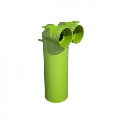 Té de raccordement 90° - Ø 75 ou 90 pour bouche ronde Ø 125 [- Conduits et accessoires VMC en PEHD - Brink]