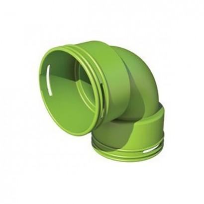 Coude circulaire à 90° - Ø 75 ou 90 [- Conduits et accessoires VMC en PEHD - Brink]