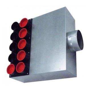 Caisson de distribution insonorisée 1 x Ø 180 - 15 x Ø 75 [- Conduits et accessoires VMC en PEHD - Brink]