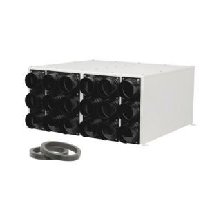 Caisson de distribution insonorisée extra-plat 2 x 9 piquages Ø 75 - Sky 300 [- Conduits et accessoires VMC en PEHD - Brink]
