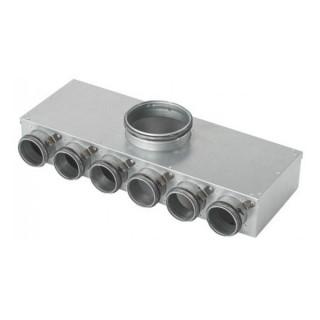 Caisson de distribution ECO 1 x Ø 125 - 6 x Ø 75 [- Conduits et accessoires VMC en PEHD - Brink]