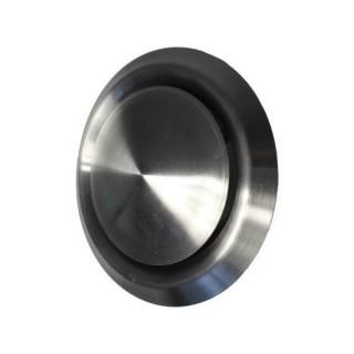 Bouche d'insufflation et d'extraction ronde plate Ø 125 Inox [- bouches VMC à débit réglable - Brink]