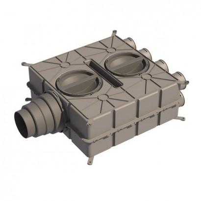 Caisson de distribution multi-configuration - 8 piquages [- Accessoires VMC en PEHD - Brink]
