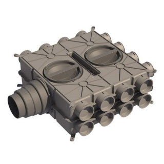 Caisson de distribution multi-configuration - 24 piquages [- Accessoires VMC en PEHD - Brink]