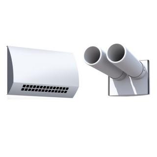 Bouche d'insufflation TINO-I - 2 x Ø 75 mm - Blanche - montage mural/plafond [- bouche d'insufflation longue portée - Brink]
