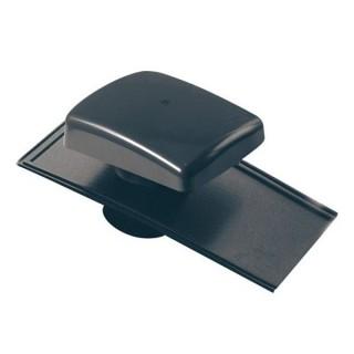Chapeau de toiture universel plastique - Ardoise - Ø 100 à 160 mm - Anthracite [- Sortie toiture VMC - BRINK]