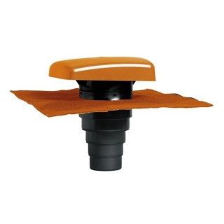 Chapeau de toiture universel tuile - Ø 100 à 160 mm - Anthracite, brun, ocre ou rouge [- Sortie toiture - BRINK]