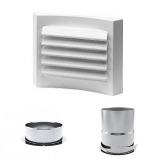 Grille de ventilation LGK Ø 80 (plastique) [- Bouches VMC - HELIOS ]