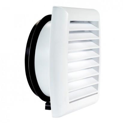 Grille de façade plastique - Ø 100 ou 125 mm [- accessoire entrée d'air - Atlantic]