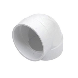 Coude PVC 90° F/F court Ø 51 mm [- Réseau centrale d'aspiration - COUP90CFF - Axelair]