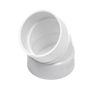 Coude PVC 45° F/F long - Ø 51 mm [- Réseau centrale d'aspiration - COUP45FF - Axelair-Vortice]